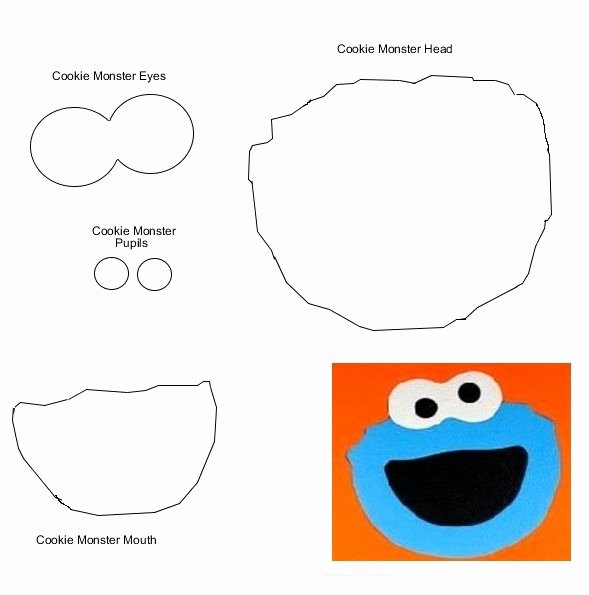 6 Best Of Cookie Monster Face Template Printable
