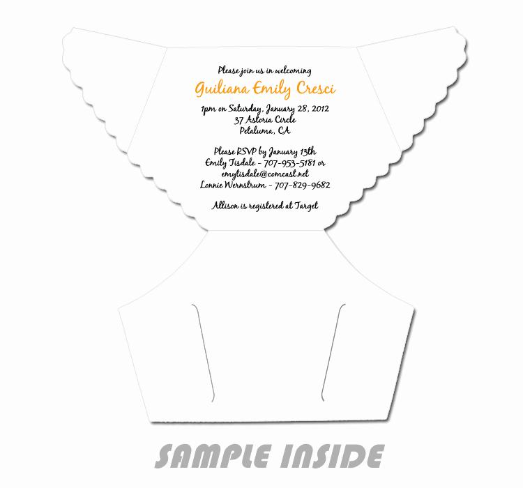 6 Best Of Diaper Invitation Template Printable
