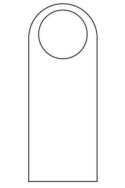 6 Best Of Door Knob Hanger Template Printable