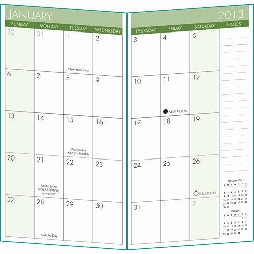 6 Best Of Free Printable 2013 Pocket Calendar