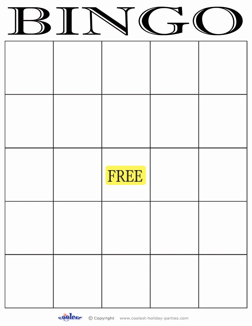 6 Best Of Free Printable Bingo Template Free