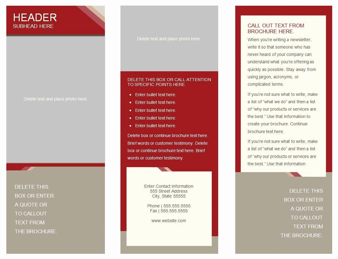 6 Best Of Free Printable Brochure Templates Line