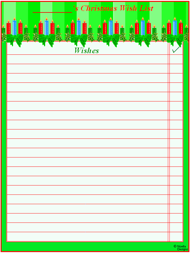 6 Best Of Free Printable Christmas Wish List