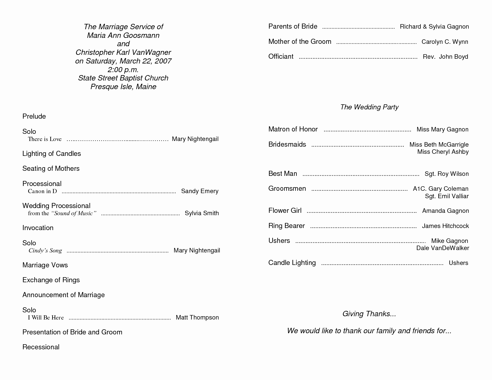 6 Best Of Free Printable Church Program Template