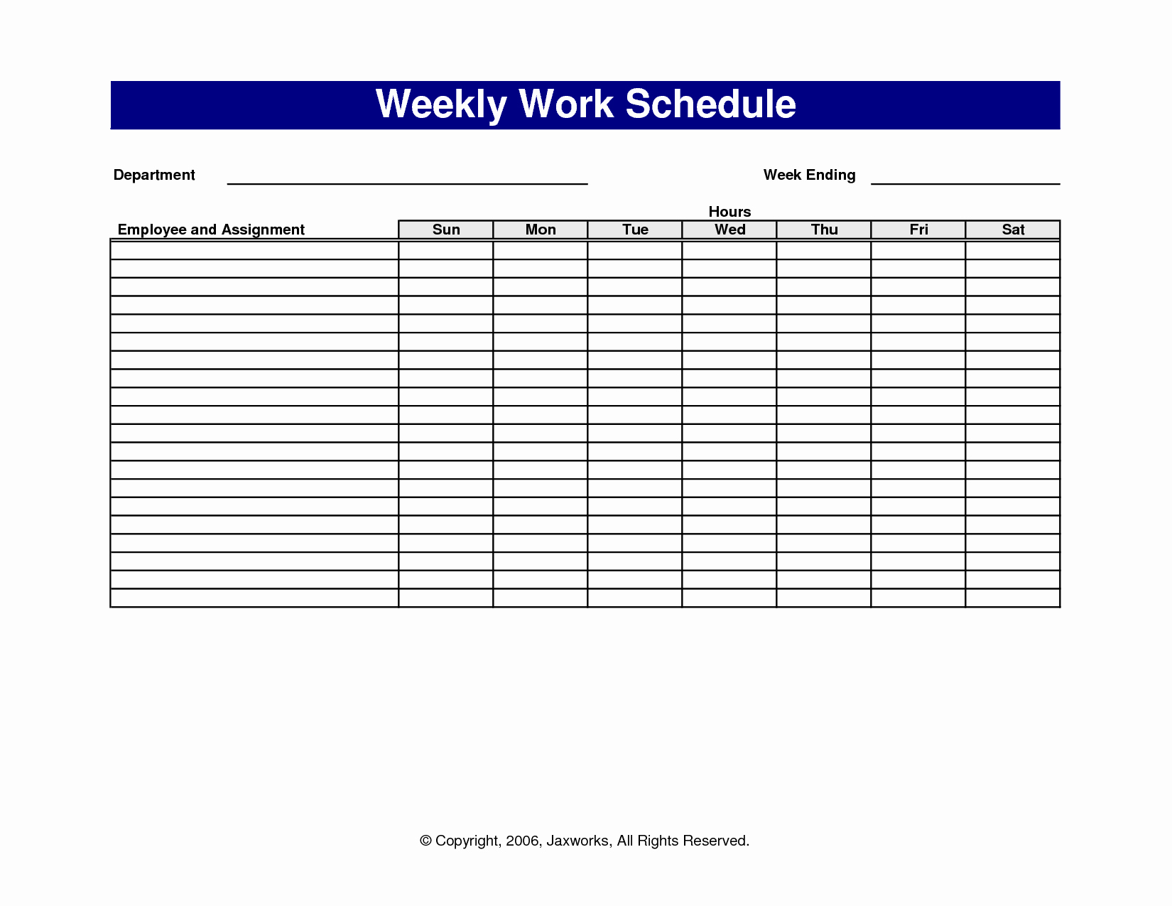 6 Best Of Free Printable Fice forms Schedules