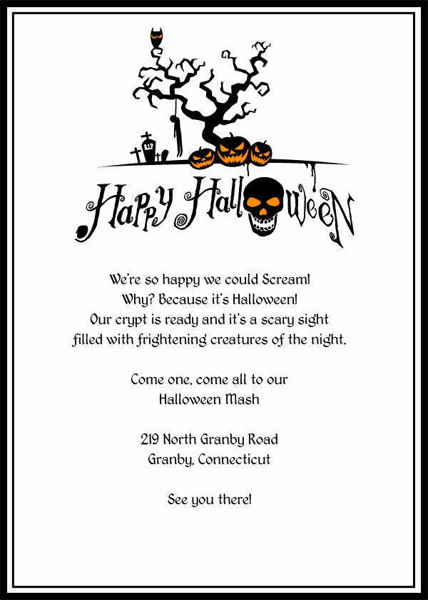 photograph regarding Free Halloween Invitations Templates Printable referred to as Cost-free Printable Halloween Invites Latter Illustration Template