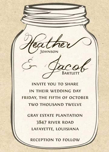 6 Best Of Free Printable Mason Jar Invitation