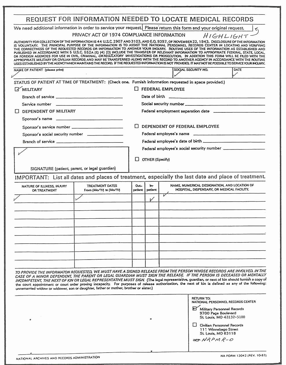image about Free Medical Forms titled 6 Most straightforward Of Free of charge Printable Clinical sorts Charts Latter