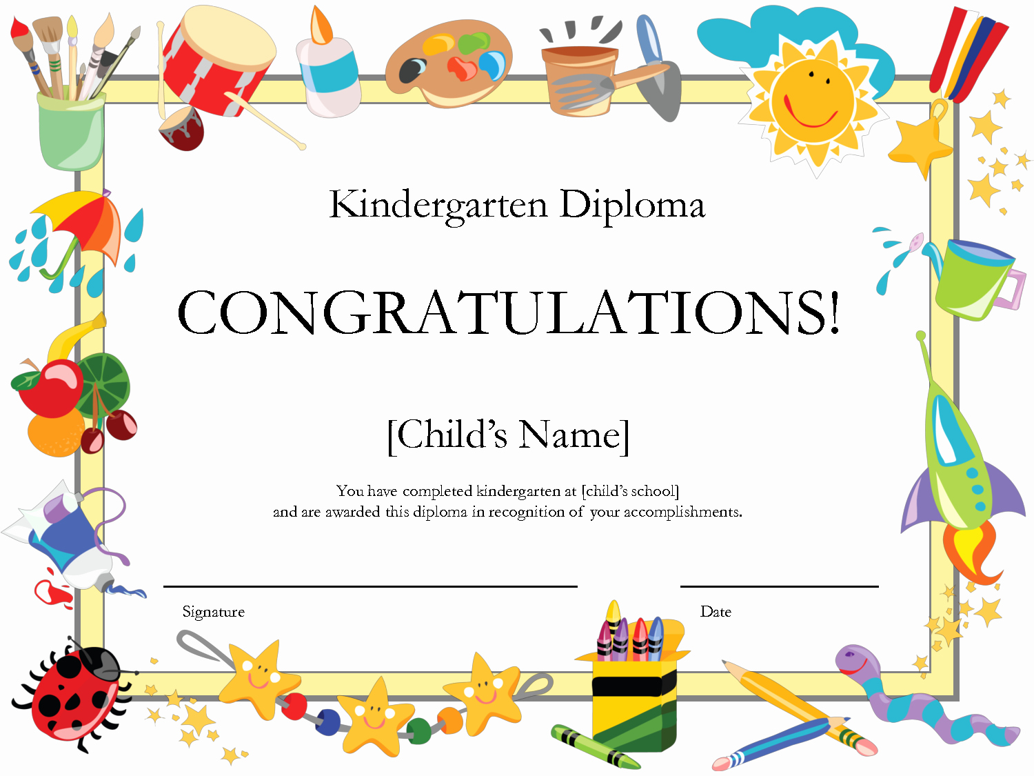 6 Best Of Free Printable Preschool Diplomas