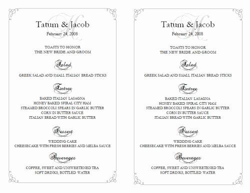 6 Best Of Free Printable Wedding Reception