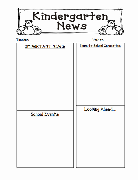 6 Best Of Kelly S Kindergarten Monthly Newsletter