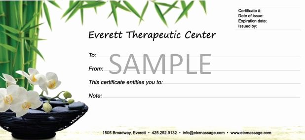 6 Best Of Massage Gift Certificate Template