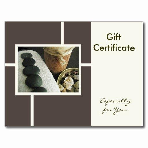 6 Best Of Massage Gift Certificate Template