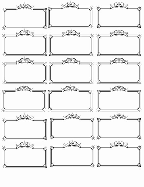 post name label template printable