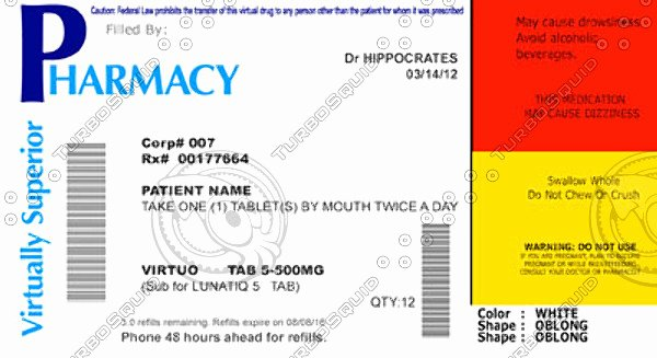 6 Best Of Pill Bottle Label Template Pill Bottle