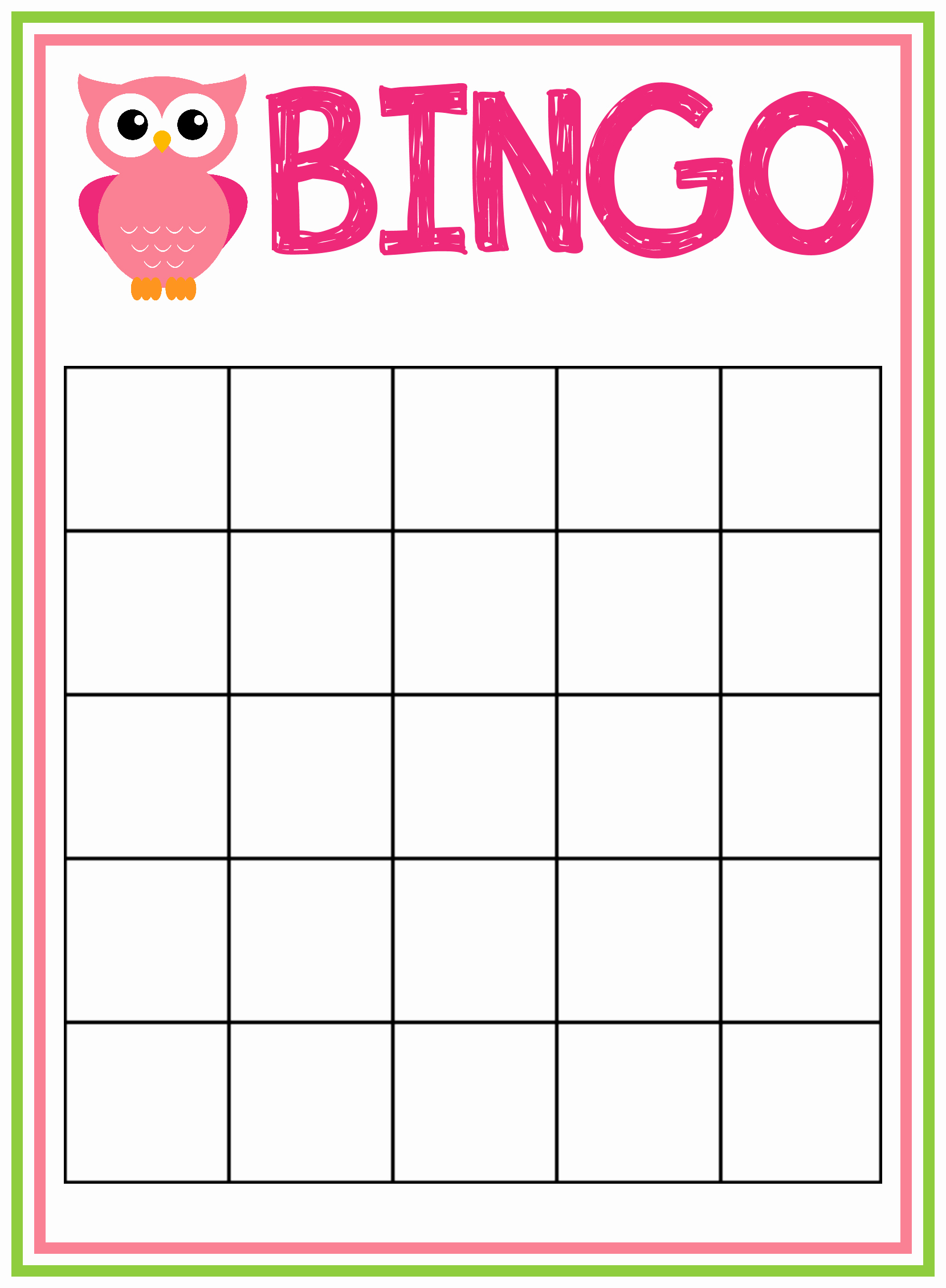 6 Best Of Printable Bingo forms Free Printable