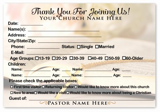 6 Best Of Printable Church Visitor Cards