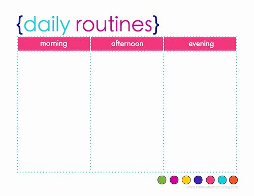 6 Best Of Printable Daily Routine Schedule Free