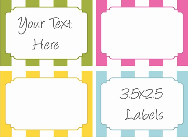6 Best Of Printable Food Labels Template Free