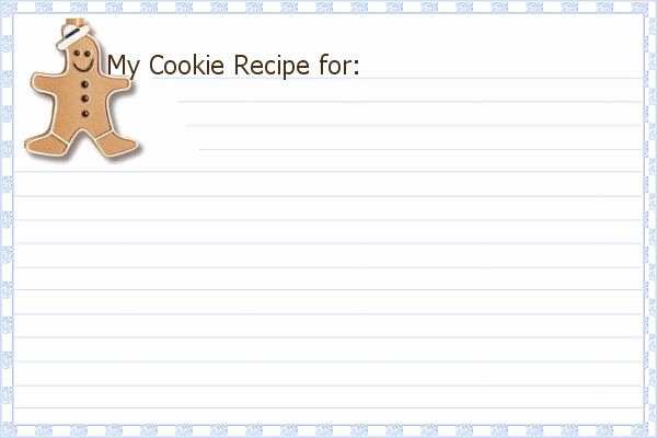 6 Best Of Printable Holiday Recipe Card Template