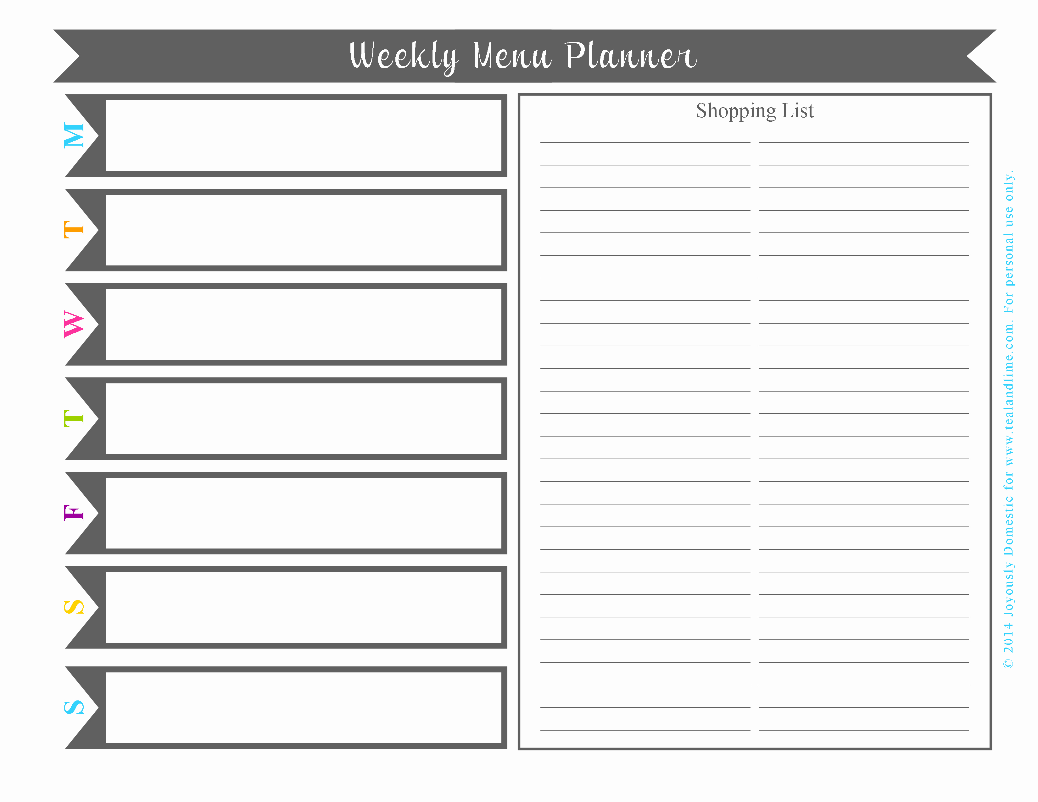 6 Best Of Printable Monthly Planner Templates