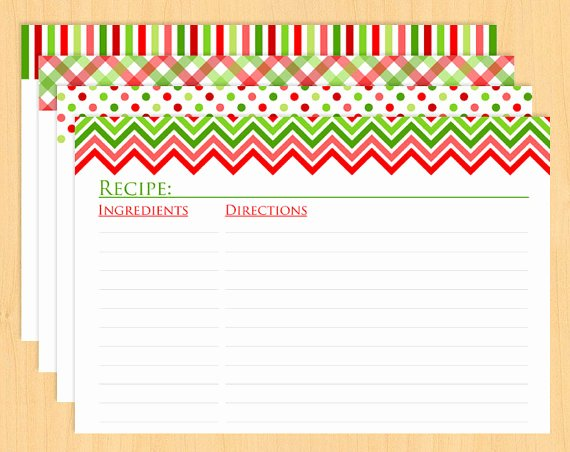 6 Best Of Printable Recipe Cards Christmas Free