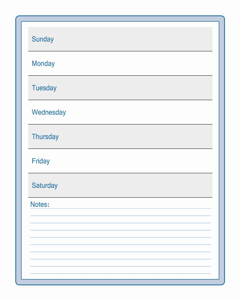 6 Best Of Printable Weekly Schedule for Students