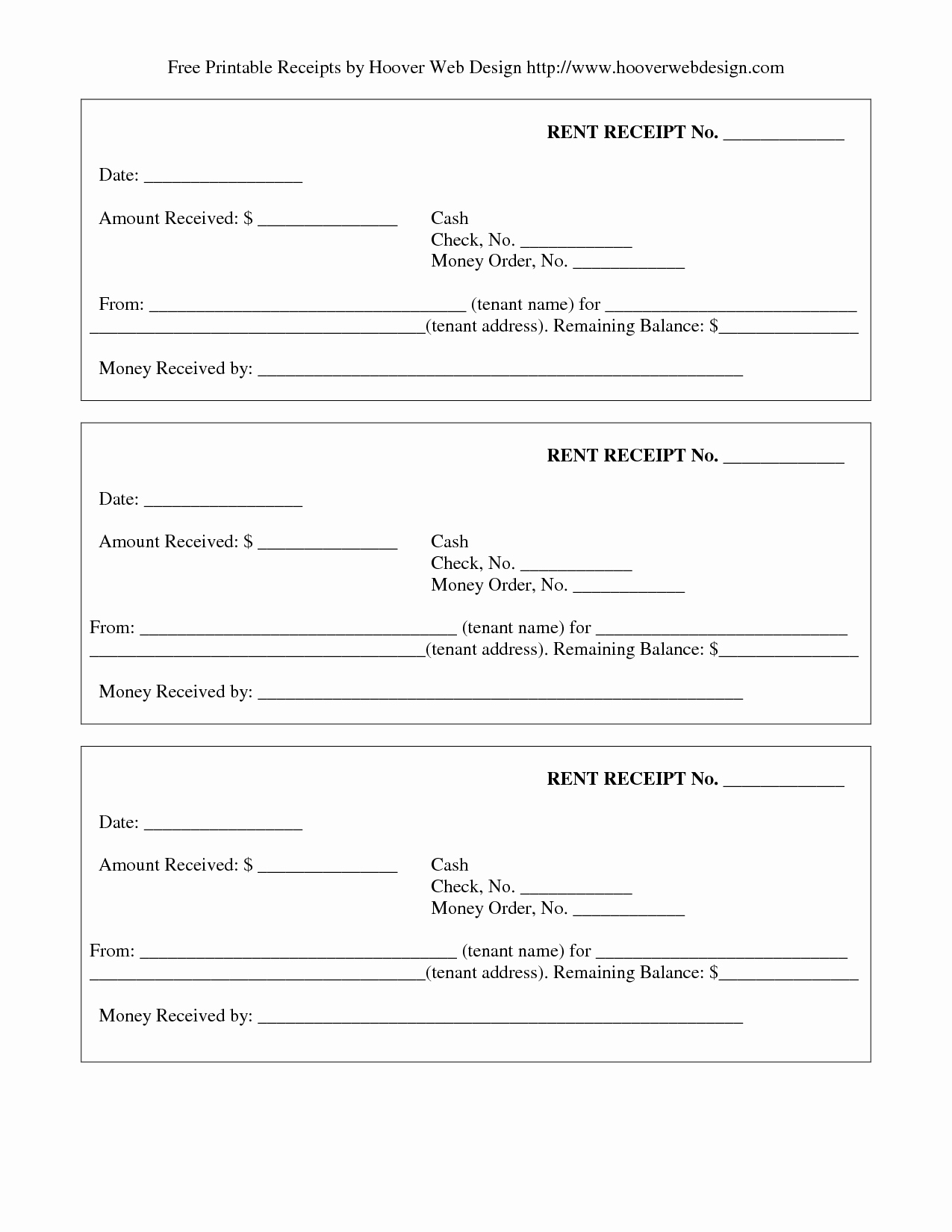 6 Best Of Receipt Template Printable Free