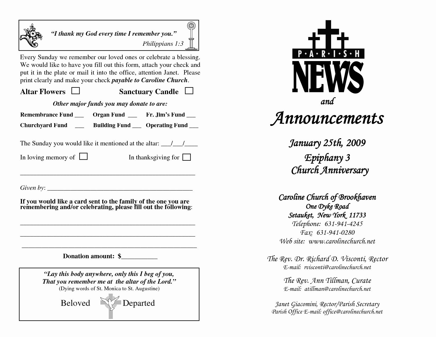6 Best Of Sample Church Program Free Sample