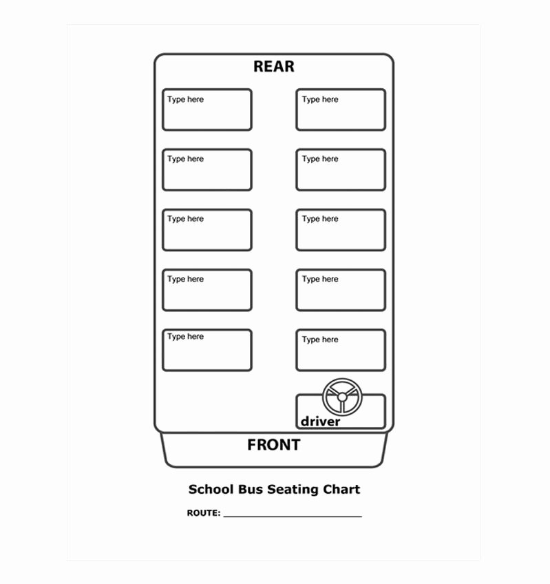 6 Best Of School Bus Seating Chart Printable