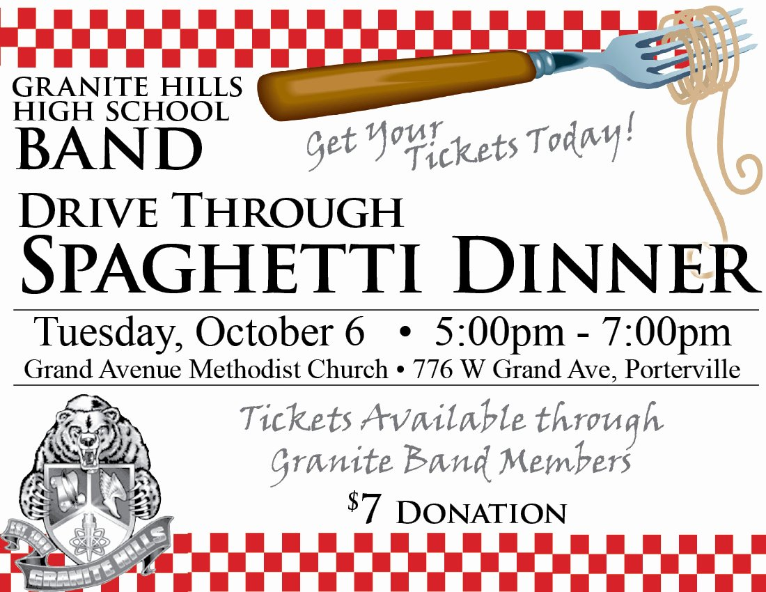 6 Best Of Spaghetti Fundraiser Flyer Template Pdf