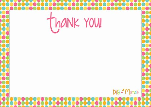6 Best Of Thank You Note Printable Template