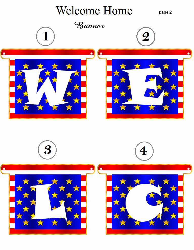 6 Best Of Wel E Home Banners Printable Free