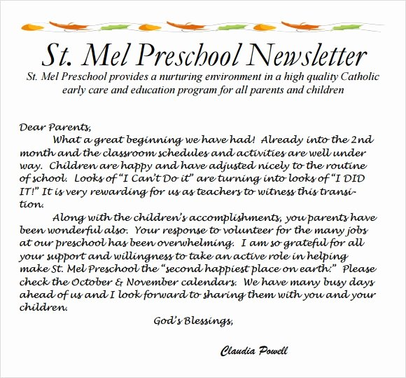 6 Best Preschool Newsletter Templates to Download