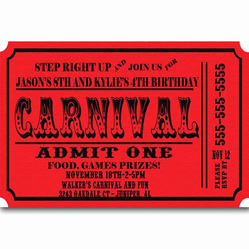 6 Best S Of Carnival Ticket Invitation Template