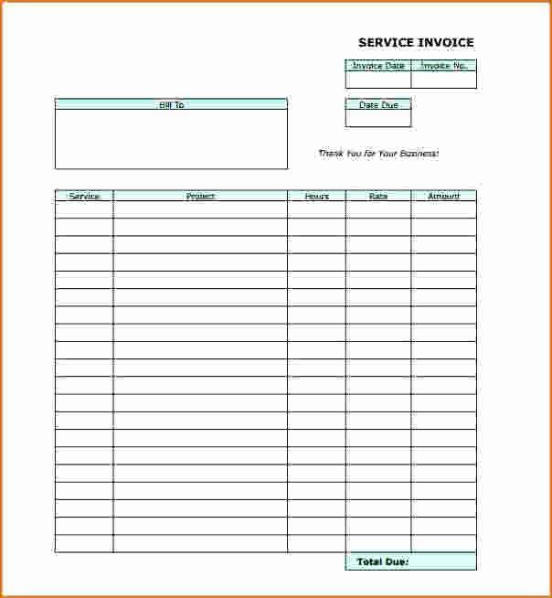 6 Blank Invoice Template Pdf