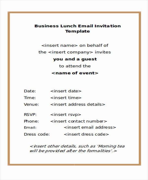 6 Business E Mail Invitation Template Design Templates