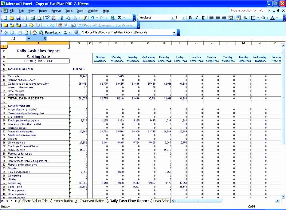 6 Cash Flow Template for Excel Exceltemplates