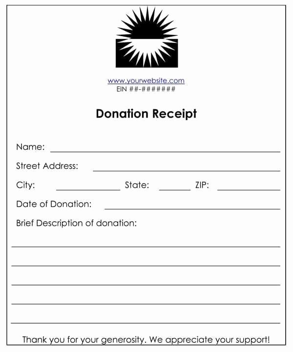 6 Cash Funds Donation Receipt Templates – Word Templates