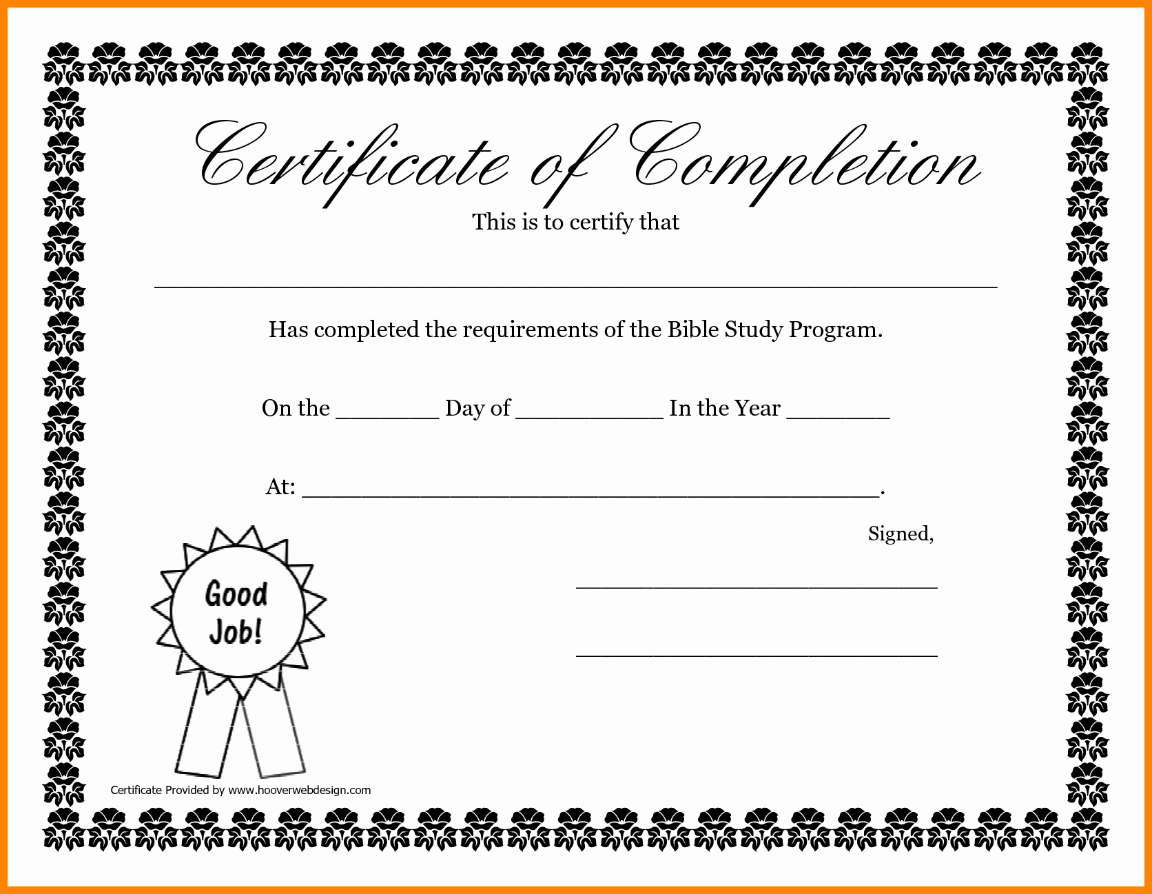 6 Certificate Of Pletion Template Free Printable