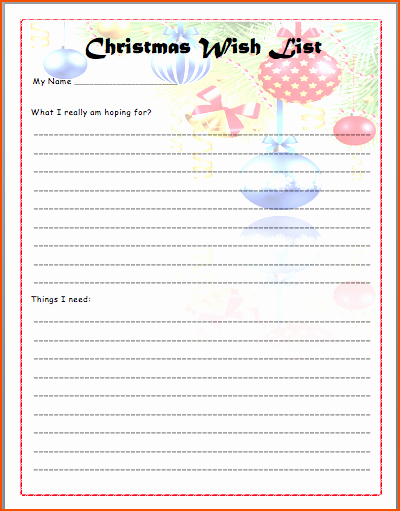 6 Christmas List Template Bookletemplate