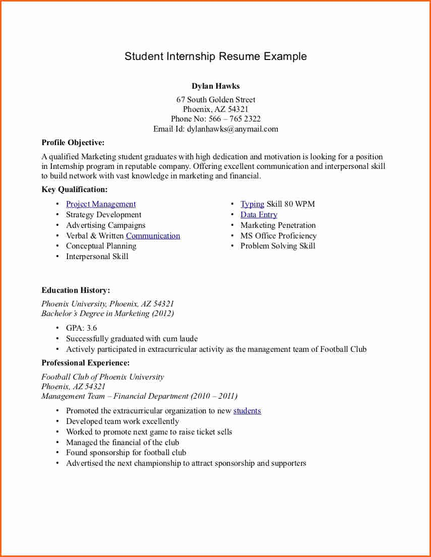6 College Student Resume Example Bud Template Letter
