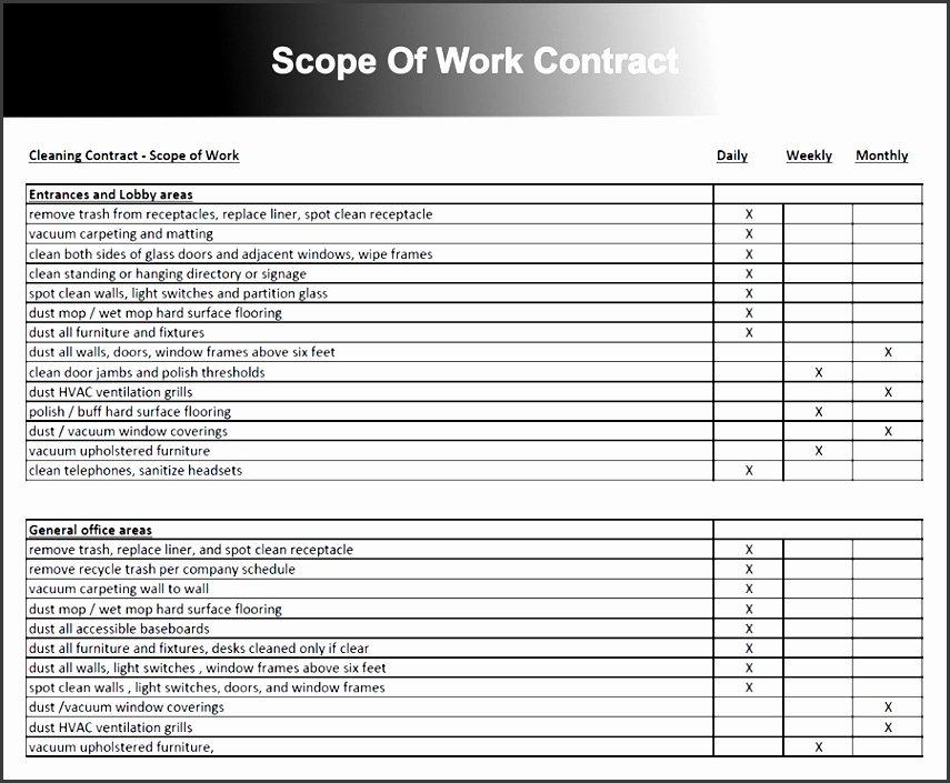 6 Construction Scope Work Example Sampletemplatess