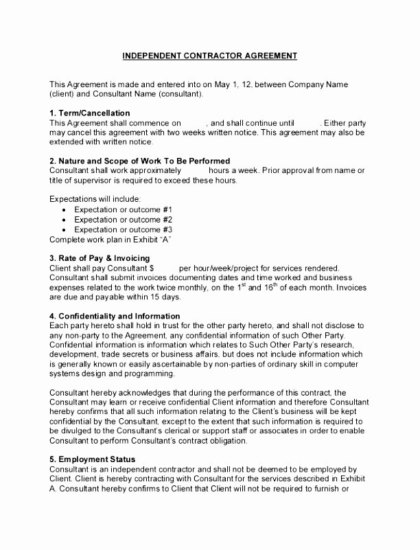 6 Consulting Contract Agreement Template Aysir