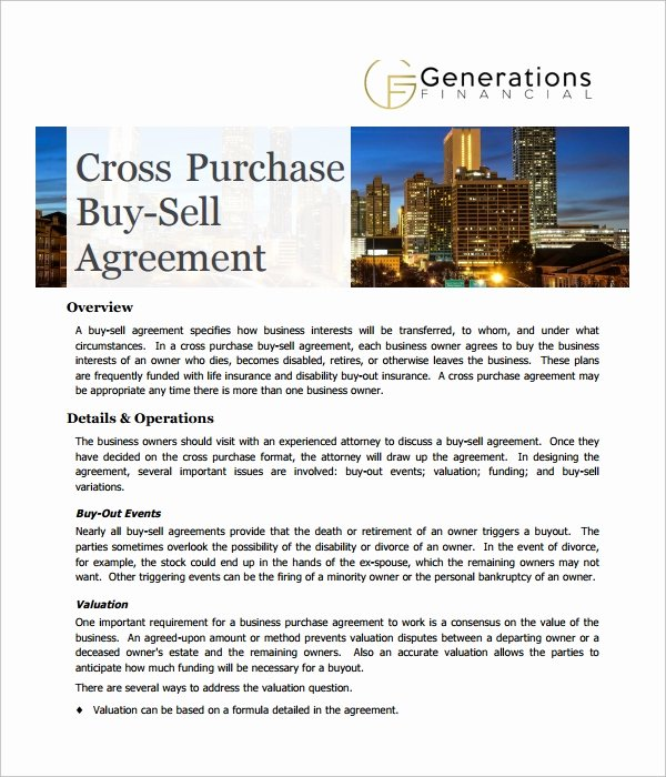 6 Cross Purchase Agreement Templates