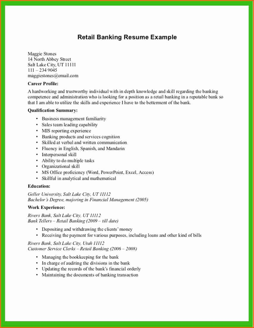 6 Cv for Sales and Retail Bud Template Letter