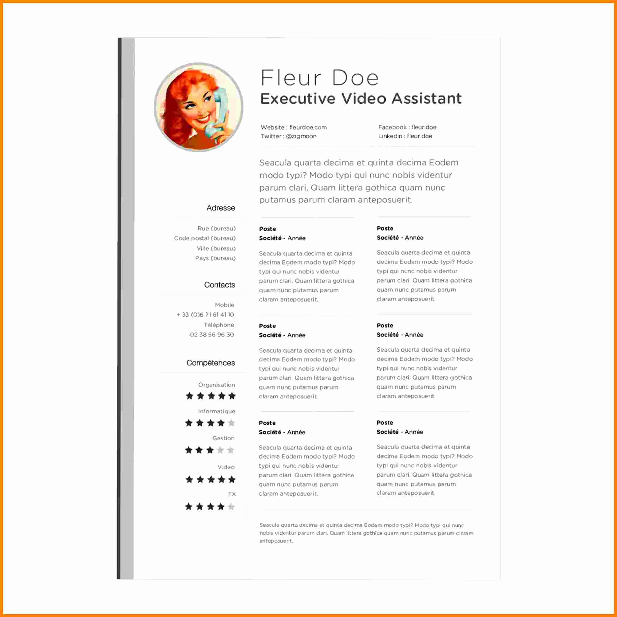 6 Cv Pages Template