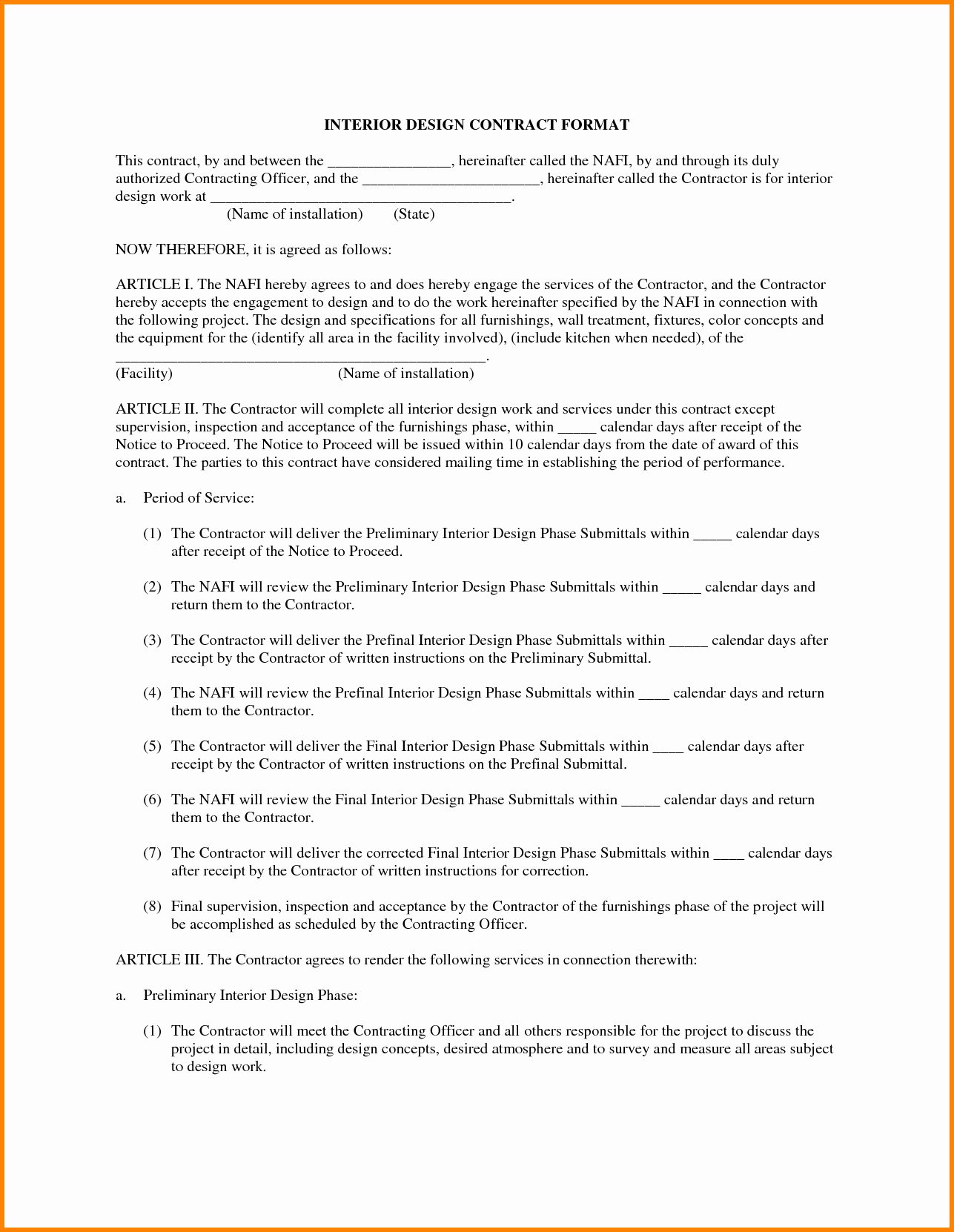 6 Design Contract Template