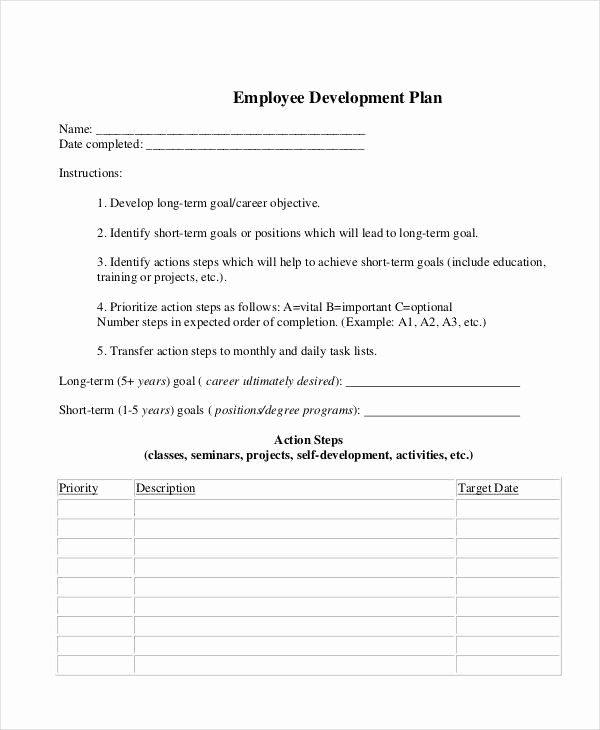 6 Development Plan Samples & Templates