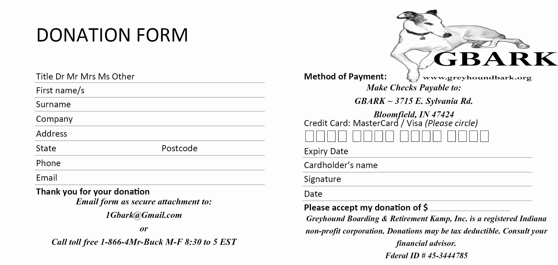 6 Donation form Templates Excel Pdf formats